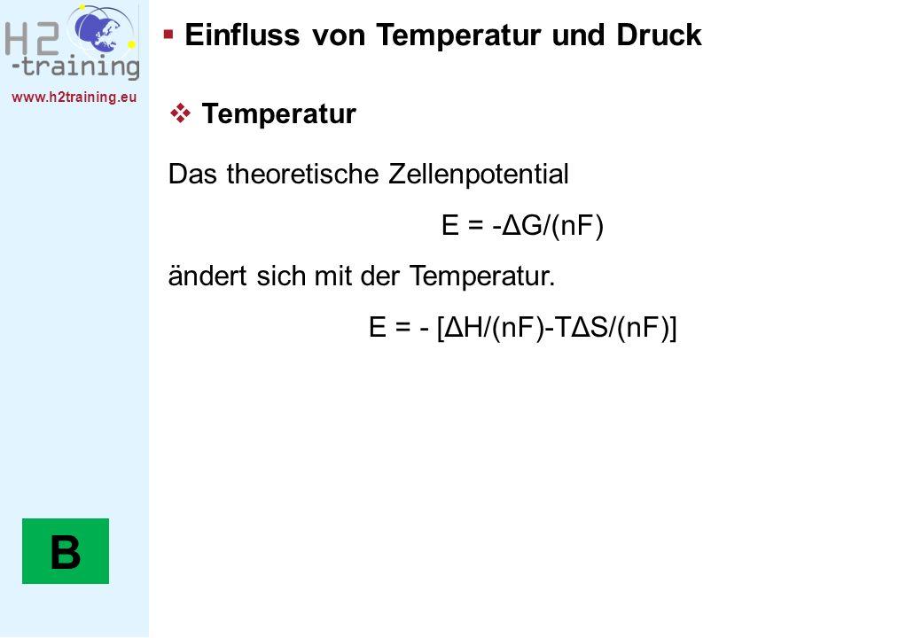 E = - [ΔH/(nF)-TΔS/(nF)]